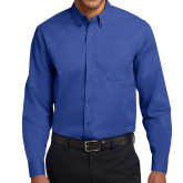 College Royal Twill Button Down Long Sleeve-Select-A-Logo