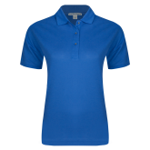 Ladies Easycare Royal Pique Polo-Select-A-Logo