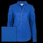 Ladies Red House Diamond Dobby Royal Long Sleeve Shirt-Select-A-Logo
