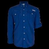 Columbia Bahama II Royal Long Sleeve Shirt-Select-A-Logo