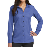 Ladies Red House French Blue Long Sleeve Shirt-Select-A-Logo