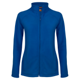 Ladies Fleece Full Zip Royal Jacket-Select-A-Logo