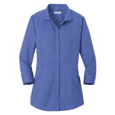 Ladies Red House French Blue 3/4 Sleeve Shirt-Select-A-Logo
