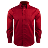 Red House Red Long Sleeve Shirt-Select-A-Logo