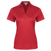 Ladies Red Performance Fine Jacquard Polo-Select-A-Logo