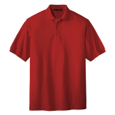 Red Easycare Pique Polo-Select A Logo