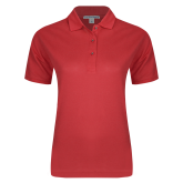 Ladies Easycare Red Pique Polo-Select A Logo
