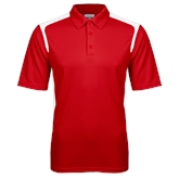 Red Textured Gameday Polo-Select-A-Logo