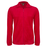 Fleece Full Zip Red Jacket-Select-A-Logo