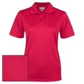 Ladies Red Dry Mesh Polo-Select-A-Logo