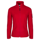 Dixie Columbia Ladies Full Zip Red Fleece Jacket-Select-A-Logo