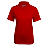 Ladies Red Mini Stripe Polo-Select-A-Logo