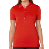 Ladies Callaway Opti Vent Red Polo-Select-A-Logo