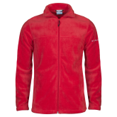 Columbia Full Zip Red Fleece Jacket-Select-A-Logo
