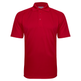 Red Textured Saddle Shoulder Polo-Select-A-Department