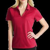 Ladies Nike Golf Dri Fit Red Micro Pique Polo-Select-A-Logo