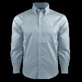 Red House Lt Blue Long Sleeve Shirt-Select-A-Logo