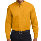 Gold Twill Button Down Long Sleeve-Select-A-Logo