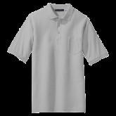 Charcoal Easycare Pique Polo w/Pocket-Select-A-Logo
