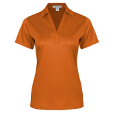 Ladies Orange Performance Fine Jacquard Polo-Select-A-Logo