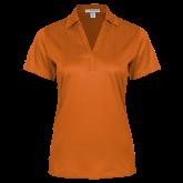 Ladies Orange Performance Fine Jacquard Polo-Select-A-Logo