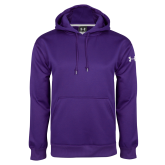 Under Armour Purple Performance Sweats Team Hood-Select-A-Logo