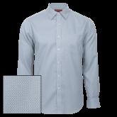 Red House Light Blue Diamond Dobby Long Sleeve Shirt-Select-A-Logo