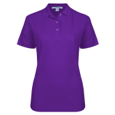 Ladies Easycare Purple Pique Polo-Select-A-Logo