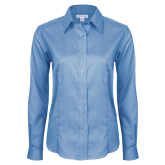 Ladies Red House Light Blue Long Sleeve Shirt-Select-A-Logo