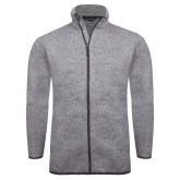 Grey Heather Fleece Jacket-Select-A-Logo