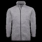 Grey Heather Fleece Jacket-Select-A-Logo