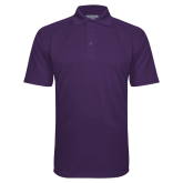 Purple Textured Saddle Shoulder Polo-Select-A-Logo