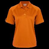 Ladies Orange Textured Saddle Shoulder Polo-Select-A-Logo