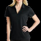 Ladies Nike Golf Dri Fit Black Micro Pique Polo-Select-A-Logo