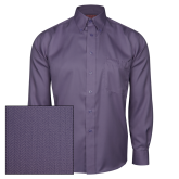 Red House Deep Purple Herringbone Non Iron Long Sleeve Shirt-Select-A-Logo
