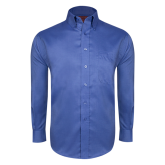 Red House French Blue Long Sleeve Shirt-Select-A-Logo
