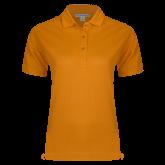 Ladies Easycare Orange Pique Polo-Select-A-Logo