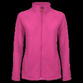 Maricopa Comm Ladies Fleece Full Zip Raspberry Jacket-Select-A-Logo