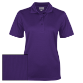 Ladies Purple Dry Mesh Polo-Select-A-Logo