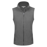 Ladies Fleece Full Zip Charcoal Vest-Select-A-Logo