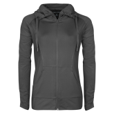 Ladies Sport Wick Stretch Full Zip Charcoal Jacket-Select-A-Logo