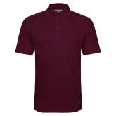Maroon Textured Saddle Shoulder Polo-Select-A-Logo