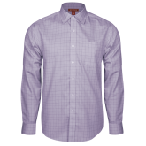 Red House Purple Plaid Long Sleeve Shirt-Select-A-Logo