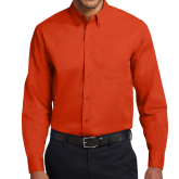 Orange Twill Button Down Long Sleeve-Select-A-Logo