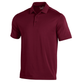 Under Armour Maroon Performance Polo-Select A Logo Sports