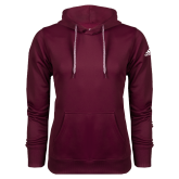 Adidas Climawarm Maroon Team Issue Hoodie-Select-A-Logo