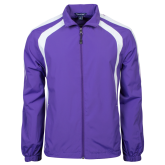 Colorblock Purple/White Wind Jacket-Select-A-Logo