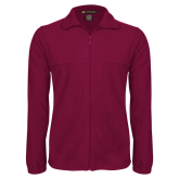 Fleece Full Zip Maroon Jacket-Select-A-Logo