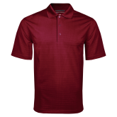 Maroon Mini Stripe Polo-Select-A-Logo
