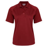 Ladies Cardinal Textured Saddle Shoulder Polo-Select-A-Logo